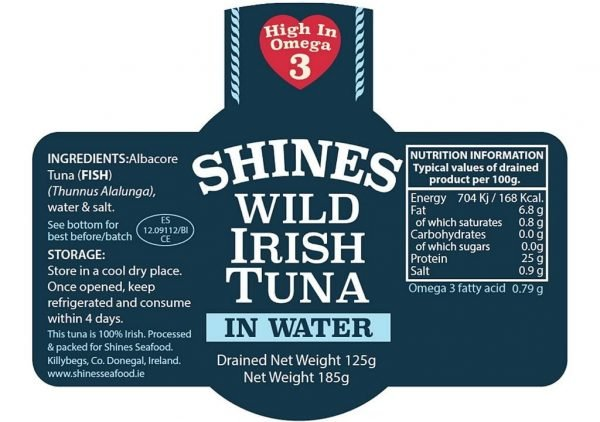 Shines Seafood Tuna Label