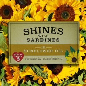 Shines Wild Sardines in Sunflower Oil -118g