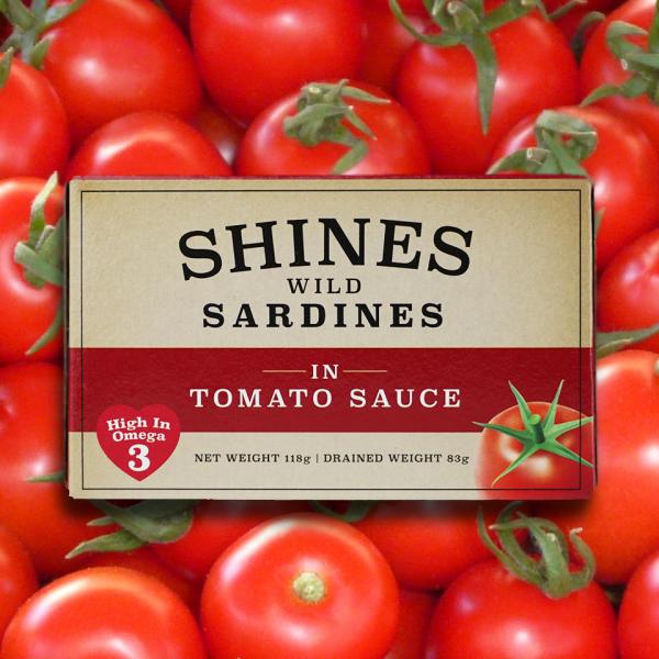 Shines Sardines On Tomatoes