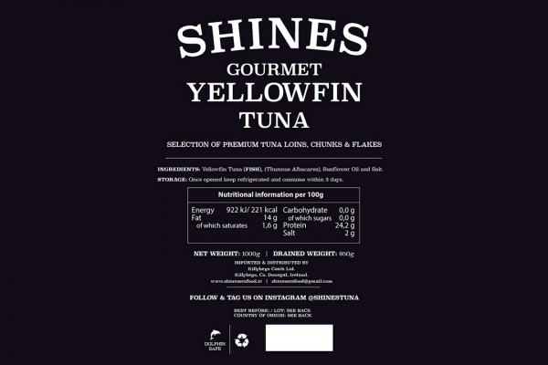 Yellowfin Tuna Ingredients